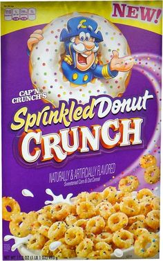 Cap'n Crunch's Sprinkled Donut Crunch 2014 [I had to order a 2-pack online because apparently no store in the bay area sells them. YES I fucken checked everywhere. I'm not really mad though whatever as long as I get to eat them...]