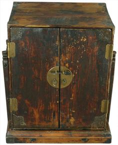 Antique Chinese Scholar's Traveling Bookcase Cabinet - $599.00 at euroluxantiques.com