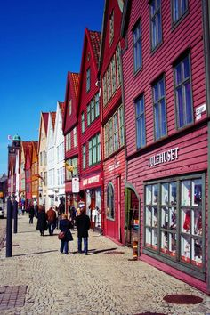 Bryggen, Bergen - Norway. One of my very favourite places. I still have my special jumper I bought on the Bryggen on our last mini-cruise from Newcastle. Long time ago...