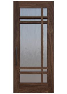 CROSS HAIRS A custom door design with everything lining up in this simple yet striking use of chord glass in a wood frame. Rendering shown in walnut. Flush Door Design, Door Gate Design, Room Door Design, Door Design Interior, House Main Door Design, House Design, Wooden Front Door Design, Wooden Double Doors, Double Door Design