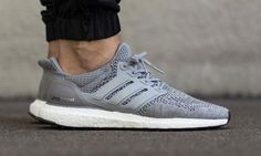 "hypebeast: ""adidas Ultra Boost Grey/Silver Metallic Another clean take on the Three Stripes' flagship runner. Adidas Ultra Boost Men, Adidas Superstar, Hypebeast, Adidas Boost Running, Me Too Shoes, Men's Shoes, Roshe Shoes, Nike Roshe, Shoes Men"