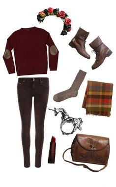 Minus the flower headband and I'm sold Outfits Otoño, Warm Outfits, Polyvore Outfits, Pretty Outfits, Casual Outfits, Fashion Outfits, Casual Fall, Casual Weekend, Weekend Wear