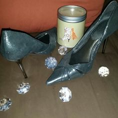 Shoes Granite grey color leather upper and leather sole pumps..ONLY WORN ONCE!! They have slip proof pads underneath because they were to smooth at the bottom. I am more than happy to answer any questions about the design of the shoe. Feel free. Size 38 ALDO Shoes Heels