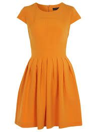 Simple chic elegant bright orange dress.