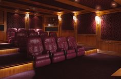 Home Theatre, made of Italian Walnut and polished, in classic style, or black lacquered, in contemporary style
