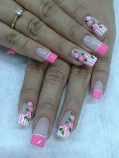 Here are some hot nail art designs that you will definitely love and you can make your own. You'll be in love with your nails on a daily basis. Fancy Nails Designs, Colorful Nail Designs, Toe Nail Designs, J Nails, Pastel Nails, Cute Nail Art, Cute Nails, Paris Nails, Jelly Nails