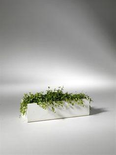 Snyggaste blomlådan vi har sett kommer från SMD Design och går att ställa på ett bord eller hänga antingen på en vägg eller på balkongräcket. Upphängningsremmar för räcke ingår.