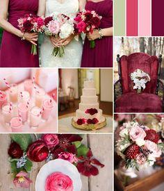 Image result for burgundy gold green wedding theme