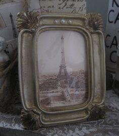 french market petite eiffel tower frame by OkioBDesigns on Etsy, $7.00
