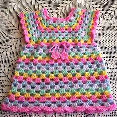 Sweet Little Granny Tunic Dress Free Crochet Pattern