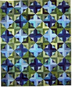 """Serenity 2...almost looks like a """"disappearing square in a square in a square...could do with jelly rolls"""