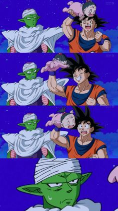 Goku, Piccolo, and Pan