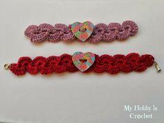 My Hobby Is Crochet: Crochet bracelet with heart button...free pattern!