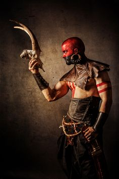 Photographer: Warped Prod Stylist: Droops Creation Makeup: Mickey Artworld Model: Jérémie Landry