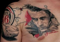 James Dean by Ritratti at Lippo Tattoo in Frosinone, Italy