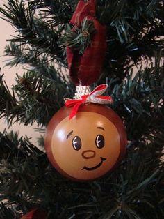 Ohio State Buckeye Christmas Ornament. $12.00, via Etsy.