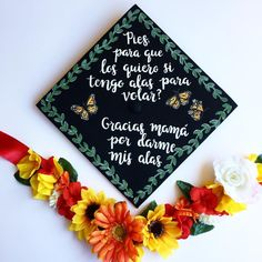 """Kim's Custom Caps on Instagram: """"Had the pleasure of decorating this beautiful cap for one of my dearest friends @lorenaae910 ✨ She chose this #fridakahlo quote and I think…"""" Teacher Graduation Cap, Graduation Cap Toppers, Graduation Party Themes, Graduation Cap Designs, Graduation Cap Decoration, Grad Cap, Graduation Pictures, College Graduation, Cap Decorations"""