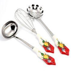 Artistica - Italian Ceramics, Deruta and Vietri Dinnerware. Dinnerware, Ceramics, Positano, Spoon, Spaghetti, Italy, Collection, Kitchen, Blue