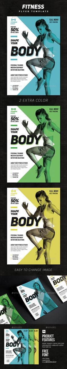 Fitness Template  — PSD Template • Only available here ➝…