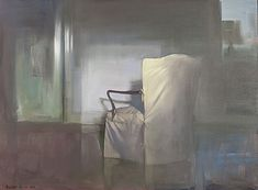 Randall Exon Margaret's Chair 3, 2012 Oil on canvas mounted on board, 18 x 24 in. / Hirschl & Adler - Exhibition