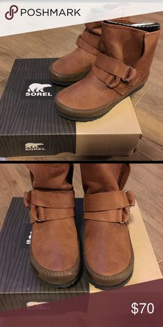 Sorel Yaquina brown boots. Brand new never worn. Comes with original box. Sorel Shoes Ankle Boots & Booties