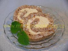 Ořechová bílková roláda Baked Potato, Cooking Recipes, Eggs, Keto, Treats, Baking, Breakfast, Sweet, Ethnic Recipes