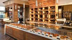 La Brea Bakery in LAX terminals 1 and 3...the L.A. café is a quick stopover for fresh baked bread, bagels, and pastries.