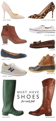 College Prep: 10 Must Have Shoes. Bean boots ✔ hunter rain boots ✔ vintage sneakers ✔ booties ✔ flats ✔ riding boots ✔ nude pumps ✔ and converse flats x so ready! Cute Shoes, Me Too Shoes, Site Nike, Bean Boots, Crazy Shoes, Look Chic, Mode Style, Swagg, Autumn Winter Fashion