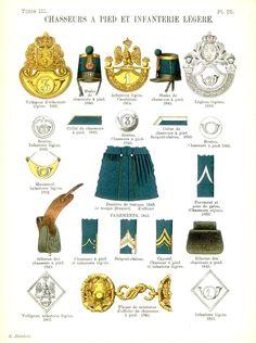 Пехота Uniformes de I'Armee Francaise 1690-1894 Lienhart & Humbert