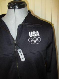U.S. Olympic Committee Warm up Jacket Black Adult Medium #USOlympiccommittee #USA