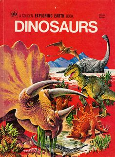 Dinosaurs: A Golden Exploring Earth Book by Alice Fitch Martin and Bertha Morris Parker, illustrated by Hamilton Greene, Robert Korta, Rudolph F. Zallinger and others. Cover by Rod Ruth. (1973)