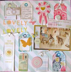 #papercraft #scrapbook #layout  Lovely Day by laurakates @2peasinabucket