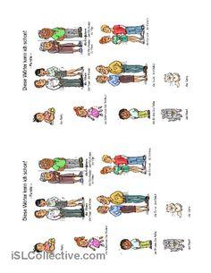 Die Familienmitglieder Arbeitsblatt - Kostenlose DAF Arbeitsblätter