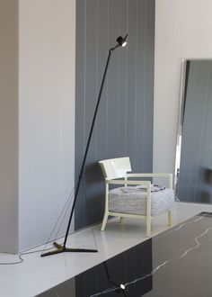 A system of 3 guy wires connected to the springs secured at 120° intervals to the Y-shaped base allow orienting and stabilizing the lamp in any direction with a fluid, pleasant motion, in an infinite game of balances. The particular adjustable reflector supporting the LED lamp completes the functionality of Y3. #designlamp #standinglamp #interiordesign Infinite Game, Tuscany Italy, Lamp Design, Led Lamp, Floor Lamp, Standing Lamps, Flooring, Interior Design, Base