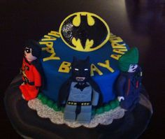 Batman Lego cake for my baby took me a while to make this one but my little handsome boy loved it!