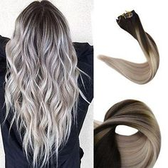 gray synthetic lace front wig – Aeshaper® | Your Secret To A Perfet Fit Clip In Extensions, Ombre Hair Extensions, Human Hair Extensions, Pastel Purple Hair, Hair Color Purple, Gray Color, Balayage Color, Balayage Hair Blonde, Icy Blonde