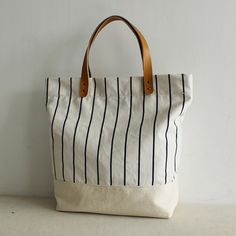 c0cf12bf01c Canvas Tote navy stripe Canvas shoulder navy striped bag beach bag shopping  bag