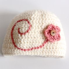 A free and easy crochet pattern to make a child's or adult's hat. This is a great hat for someone who is just learning to crochet.