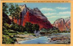 Vintage Utah Postcard  Mount Majestic and Angel's by VintagePlum