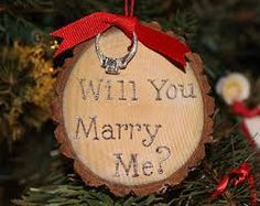 Christmas Proposal Ideas - tree ornament! For more christmas proposal ideas see: http://www.senatehouseevents.co.uk/features/25-unique-christmas-proposal-ideas