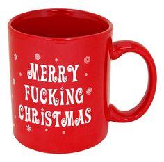 funny christmas mugs merry fcking christmas funny coffee mug - Christmas Coffee Cups