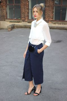 All sizes | Navy Culottes Street Style Top Uk Fashion blog | Flickr - Photo Sharing!