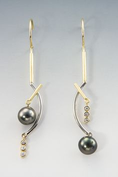 Janis Kerman - 18KT, DIAMONDS, CULTURED TAHITIAN PEARLS