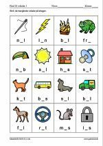 Skriv de manglende vokaler p� stregen Abc Sounds, Danish Language, School Readiness, Baby Development, Home Schooling, School Classroom, Learn To Read, Raising Kids, Kids House