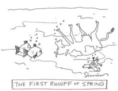 The first runoff of spring