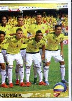 2016 Copa America Centenario #40 Team Photo 2 Colombia Soccer Sticker - Brought to you by Avarsha.com