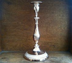 Vintage English Tall Sheffield Candle Holder by EnglishShop, $78.00