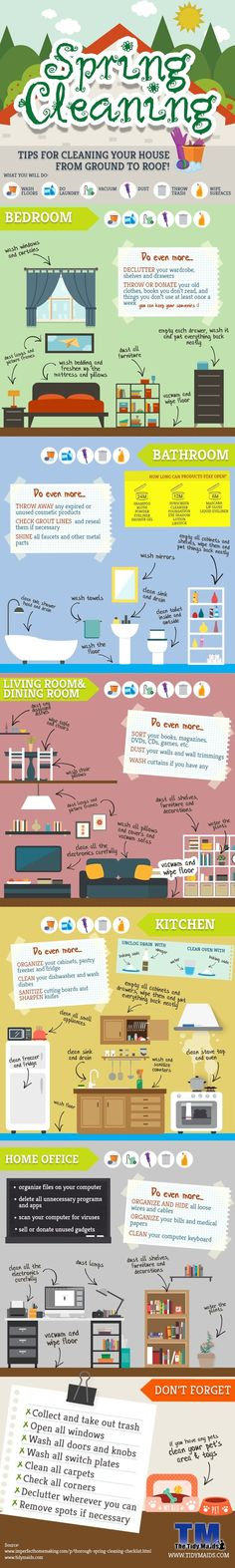 Spring Cleaning 101 — Don't forget ANYTHING this year! Top to bottom for ev… Spring Cleaning 101 — Don't forget ANYTHING this year! Top to bottom for every room in the house. Deep Cleaning Tips, Cleaning Checklist, House Cleaning Tips, Natural Cleaning Products, Cleaning Solutions, Spring Cleaning, Cleaning Hacks, Cleaning Schedules, Organizing Tips