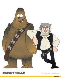 Star Wars,Gravity Falls,Crossover