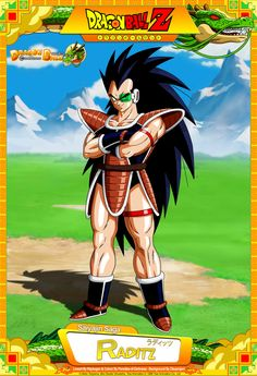 Dragon Ball Z - Raditz Lineart By ~Raykugen & Colour By =Paradise-of-Darkness Background By ~Bejitsu & ~Raykugen Card Design By ~Te. Dragon Ball Z - Raditz Dragon Ball Gt, Dragon Ball Z Shirt, Dragon Z, Akira, Geeks, Chibi, Desenhos Cartoon Network, Dbz Characters, Anime Merchandise